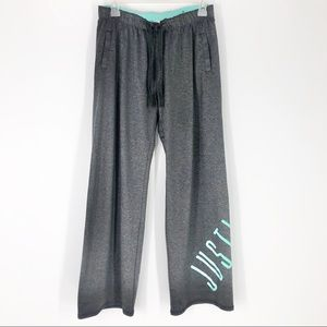 Justice Girls 16 Gray & Turquoise Sweat Jog Pants